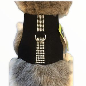 Top Paw Bling Vest/Harness Black XXS